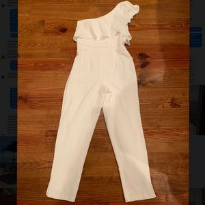 Women's White Jumpsuit - ONLY WORN ONCE!